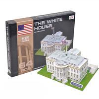 SE91140 The White House Type 3D Educational Building Puzzle Game