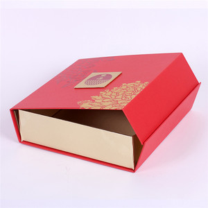 Creative design folding paper cardboard moon cake box