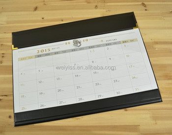 leather desk calendar planner,table desk calendar planner,monthly table desk mat cleandar 2016