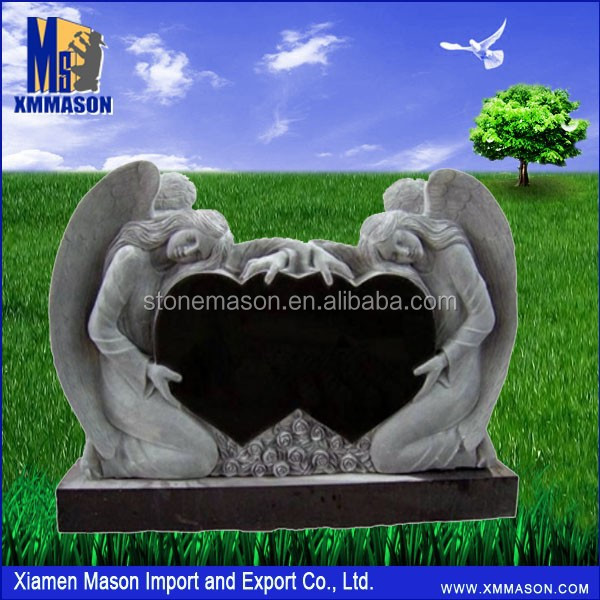 China Supplier Double Angel Heart Headstone