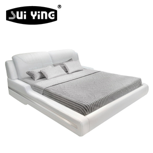 hot sale nice design white bedroom modern day bed A9061