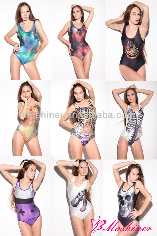 Cheap Girls Sexy Digital Printing Swimwear Backless Smooth Swinwear Beachwear