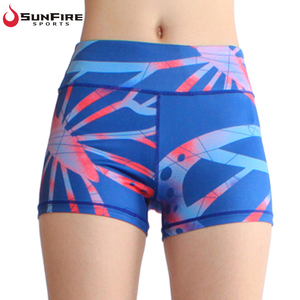 Activewear running sublimation spandex women fitness yoga shorts from manufacturer