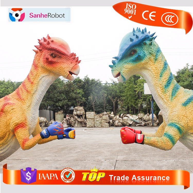 Dino world pe foam metal jardin decoracion dinosaurios animatronics