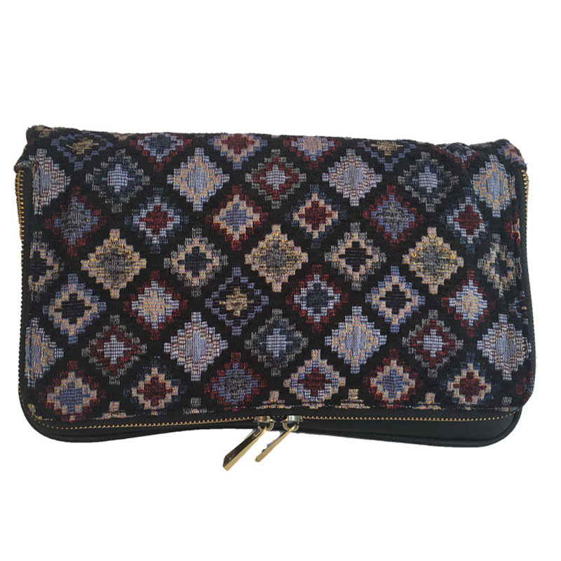 Good quality ladies jacquard banjara clutch canvas shoulder bag
