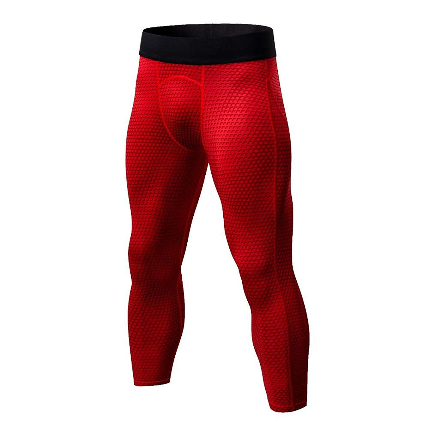 233f20b0fa85a ESHOO Compression Pants 3/4 Tights Capri Pants Running Leggings for Men