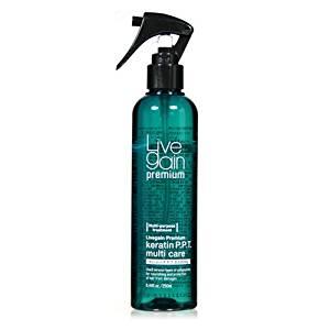 Livegain Premium Keratin PPT Multi Care 8.44 fl.oz - Before & After Treatment- Best for Colored & Perm Hair - Moisturizer & Detangler