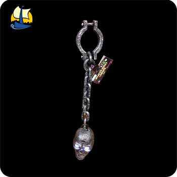 prisoner chain plastic halloween skull head with light buy plastic