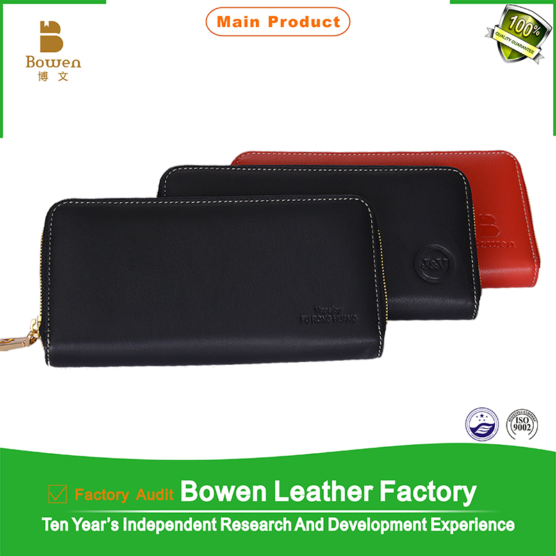 China manufacturer Bowen Brand BWC-12/13 genuine leather Man/woman wallet