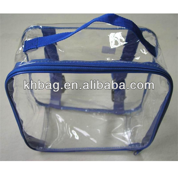 clear pvc handle bags for quilt packing