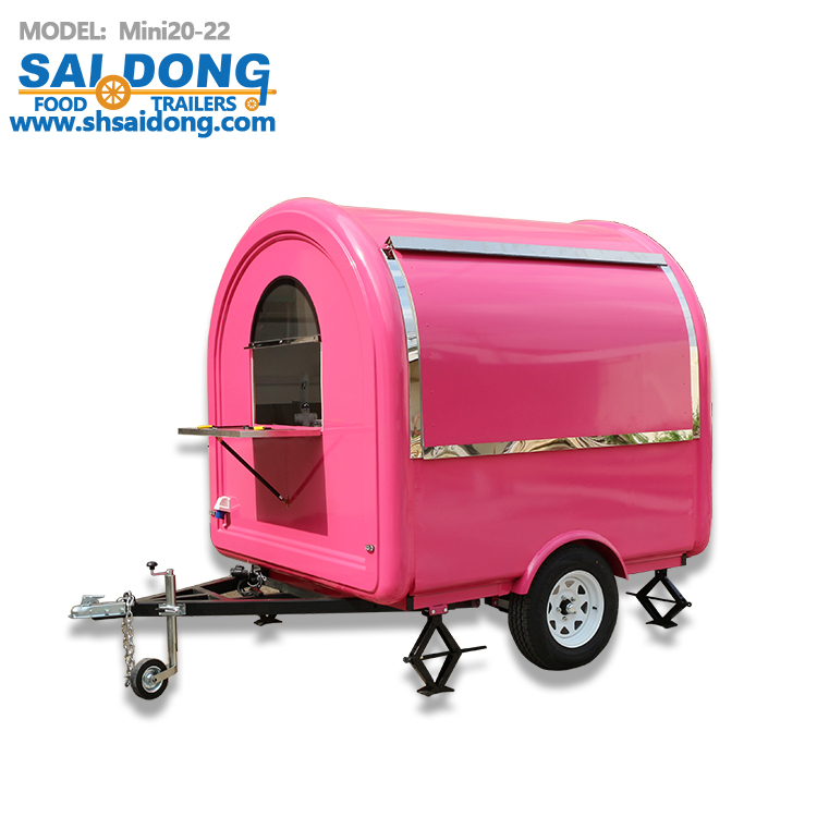 ice cream application mobile food cart /vending truck with wheels