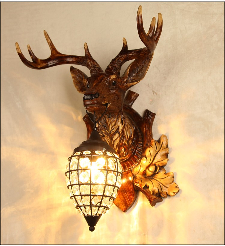 Horse Antler Deer Head Wall Lamps Paintings For Home Decorative ...
