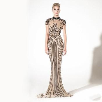 High Neck Fishtail Prom Dresses Wholesale Bandage Dress Factory