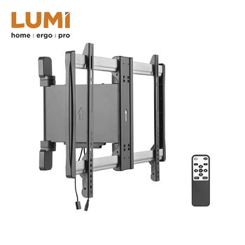 Ce Roved Remote Control Motorized Curved Flat Panel Tv Wall Mount Bracket