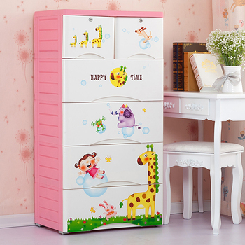 2016 hot sale 5-ALYER plastic clothes storage drawer cabinet for baby