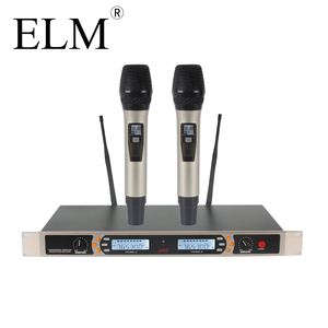 Professional wireless vocal mic set 2 UHF dynamic handheld wireless microphone