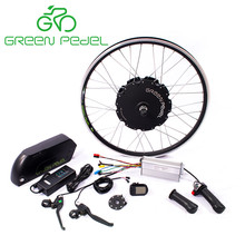 Greenpedel 36v 48v 500w 750w gearless motor ebike conversion kit