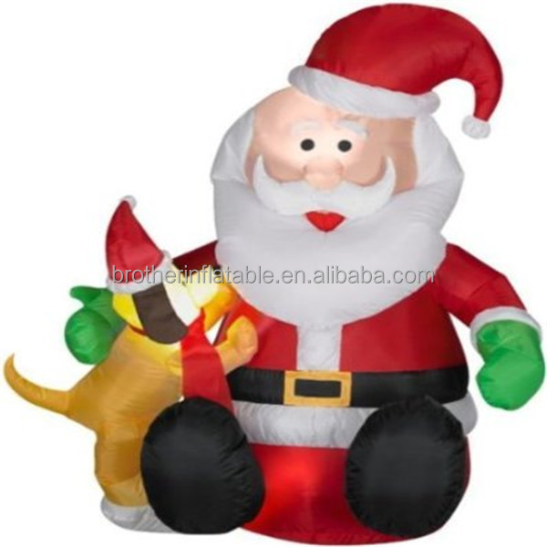 Inflatable Father Christmas Santa Claus Ice Jam Big Lots Christmas ...