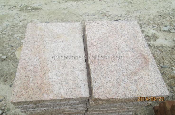 Flamed Rustic Yellow Granite Paving Cubes