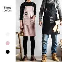 Wholesale adjustable bib cooking apron with Custom Logo Printed OEM for promotion