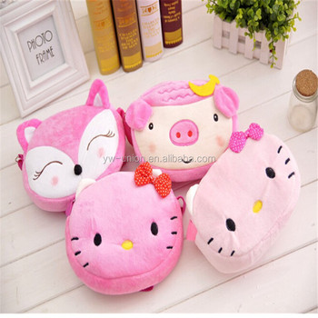 Plush Cat Toy Bags Soft Kids Bag Toys Stuffed Baby Kid