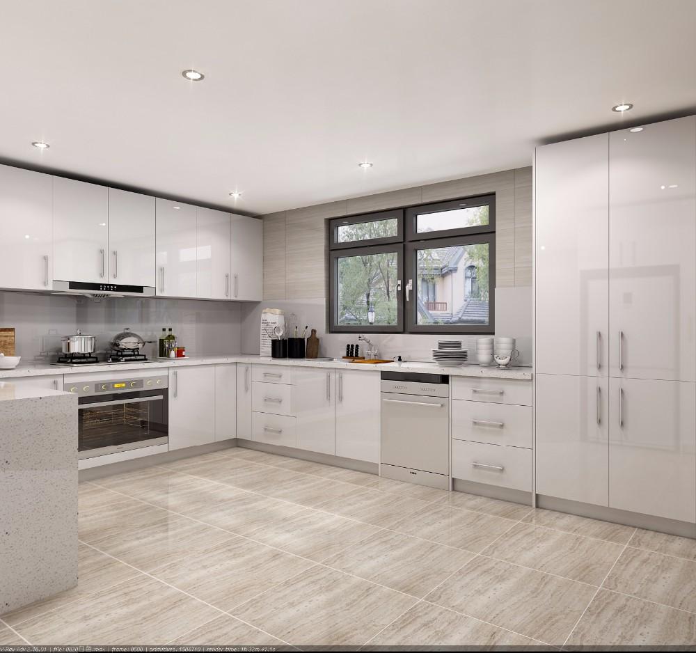 White Kitchen Cabinets Quality: White High Gloss 2pac Modern Kitchen Cabinets Cheap