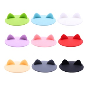 Cute Cat Ears Silicone Cup Covers Silicone Rubber Drinking Lids