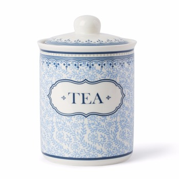 800cc Elegant Fine New Bone China Ceramic Canister Tea Coffee Sugar Set Of Blue Dream Made