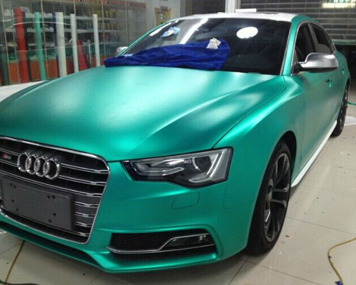 New Style Fashion Design Lake Green Color Matte Chrome Car Wraps