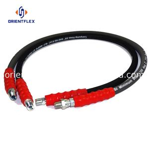 Reliable braided kink resistance water use rubber hydraulic hose assembly 70 mpa factory wholesale