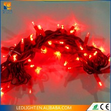 LED twinkling stars string lights for wedding and Christmas decoration in blue color with 5m PVC black wire