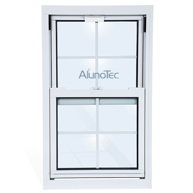 Aluminum Vertical Sliding Window/American Double Side Hung Windows