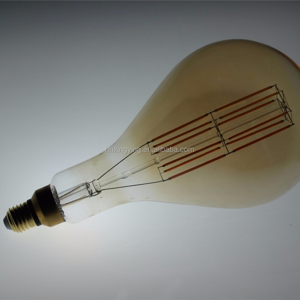 big tube dimmable a160 ps52 led filament bulb for home coffee bar decorative lighting 4w 6w 10w ic <strong>e27</strong>