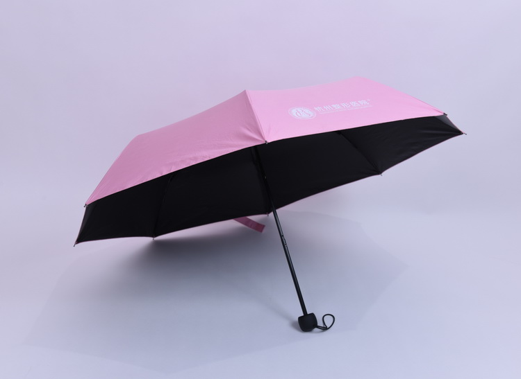 Beautiful pink double canopies Uv protection 3 folding for lady umbrella