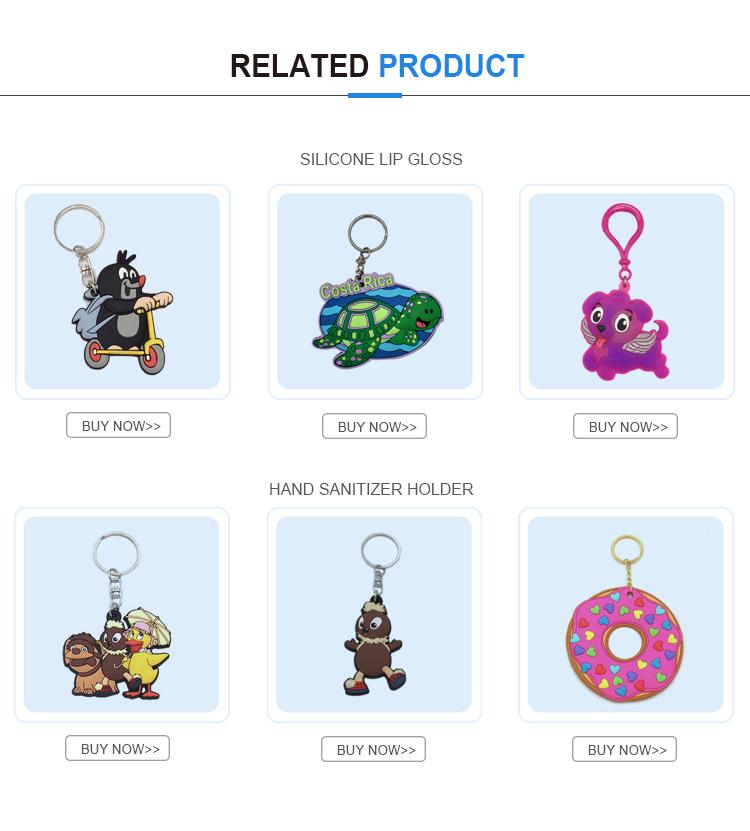Groothandel custom single stuk biscuit sleutelhanger pvc grappige sleutelhanger
