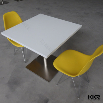 Square Malaysia Modern Solid Surface Dining Table Set - Buy Modern ...