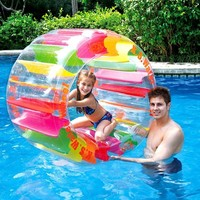 Funny plastic inflatable water wheel toy