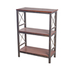 /product-detail/3-tiers-small-low-height-portable-shallow-black-storage-bookcase-with-wooden-shelves-60727536403.html