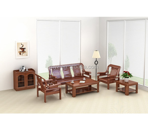 Gcon New Simple Teak Wood Wooden Sofa Set Designs With High Quality