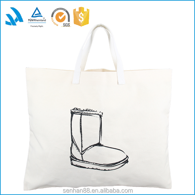 Reusable professional women CANVAS leather tote hand bags made in italy