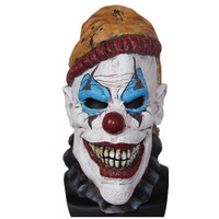 X-MERRY TOY Costume Insano The Clown Overhead Mask Latex Evil Clown Mask With Foam Features