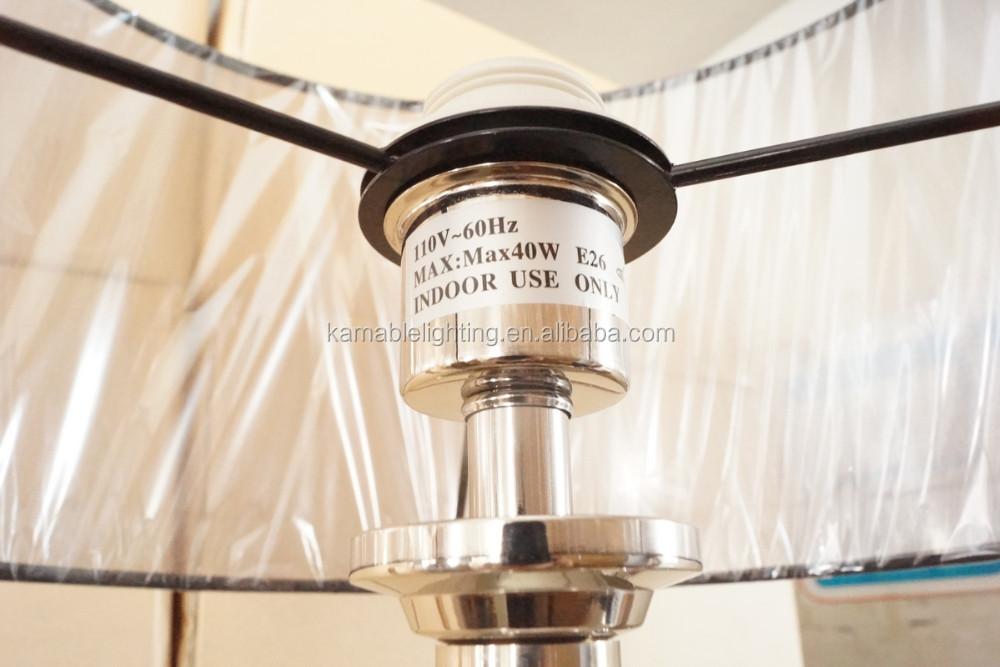Fabric Shade Cylinder Floor Lamp