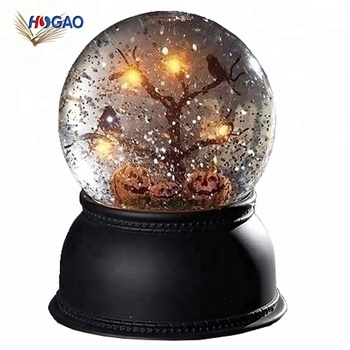 oem led resin base lantern dome cheap water globes halloween snowglobes
