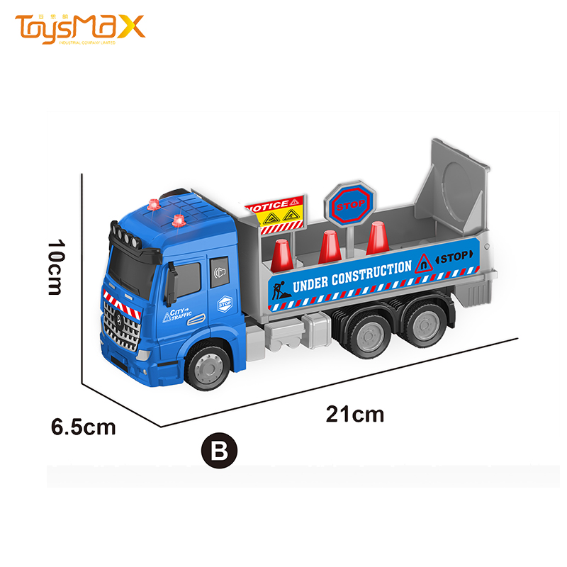 Europe Style 1:46 Scale Pull Back Metal Rescue Fire Truck Toys Battery Operated Diecast Model Toy