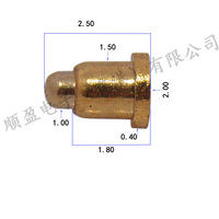 Hot sale brass 1mm 2mm 3mm magnetic high current charger pogo pin connector