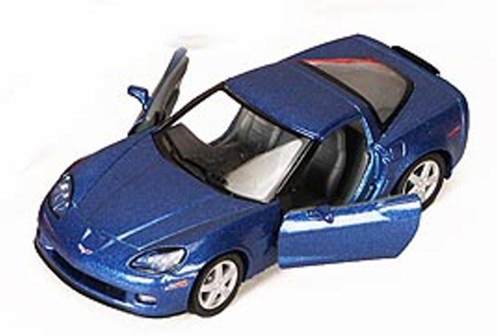 2007 Chevy Corvette Z06, Blue - Kinsmart 5320D - 1/36 scale Diecast Model Toy Car (Brand New, but NO BOX)