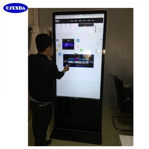 42 43 inch standalone android lcd video display pc totem kiosk with samsung lg screen