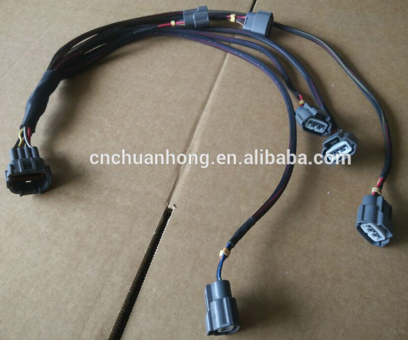 3 way engine fuel wire harness for nissans and mazda ignition coils 350z  sentra altima gtr rb20det