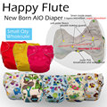 Happy flute NB diaper baby nappy waterproof and breathable AIO with a sewn inside insert Fit