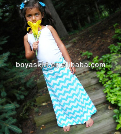 New Arrival Cheap Price Long Dress Solid White Sleeveless Clothes Match Stripe Dress For Girl